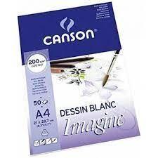 BLOC MIX MEDIA A4  50H 200G CANSON IMAGINE