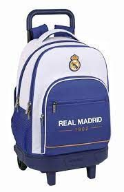 MOCHILA GDE.CON RUEDAS REAL MADRID