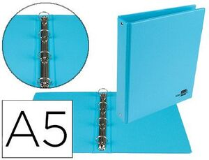 CARPETA A5 4A 25MM. LIDERPAPEL FORRADA PVC AZUL