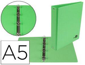 CARPETA A5 4A 25MM. LIDERPAPEL FORRADA PVC VERDE