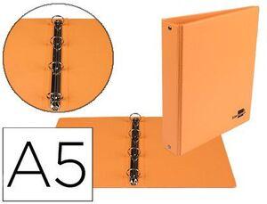 CARPETA A5 4A 25MM. LIDERPAPEL FORRADA PVC NARANJA